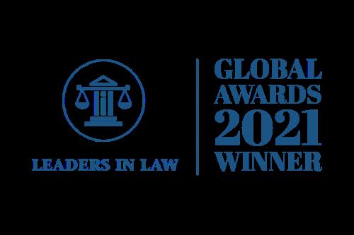 Global Awards Winner Logo - Leaders in Law 500 x 333