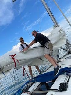 Regatta - Rob Young with Sail 700 x 933